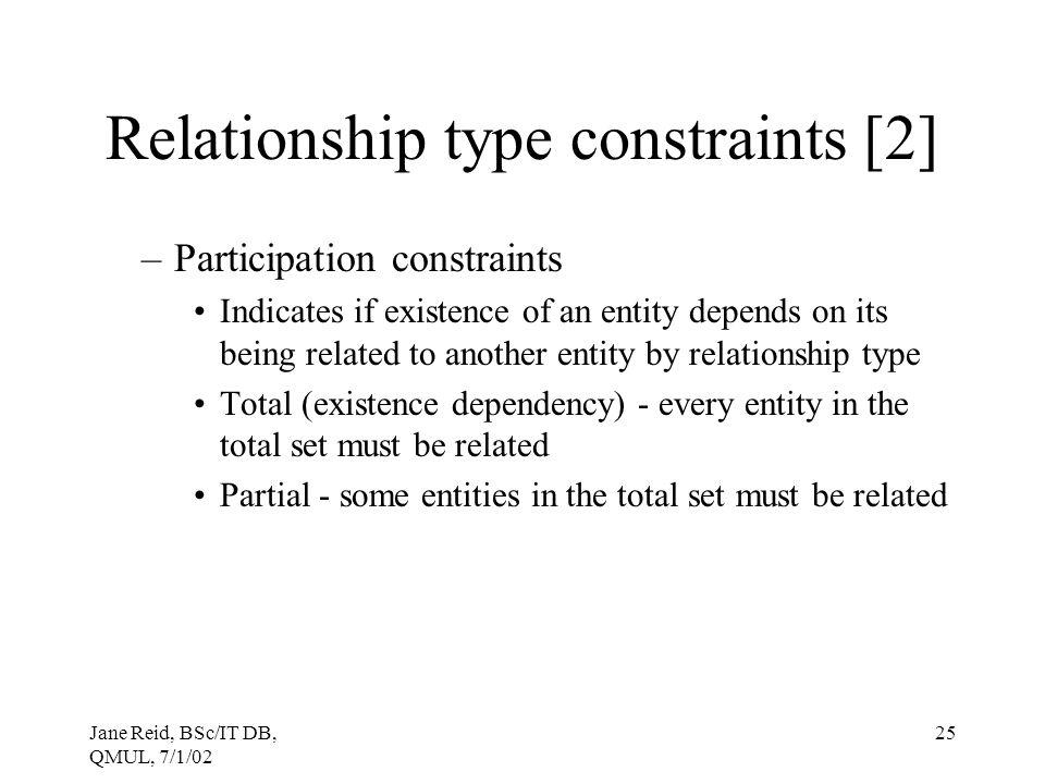 Relationship type constraints [2]